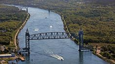The Cape Cod Canal provides spectacular views of passing ships. This summer is it's centennial celebration. Cruise lines, cargo ships, and jumbo car carriers can be seen from the canal banks as they travel between the Cape Cod Bay and Buzzards Bay.