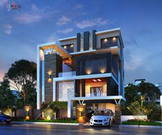 Villa Design, Facade Design, Exterior Design, Architecture Design, Bungalow House Design, House Front Design, Modern House Design, Building Exterior, Building Design
