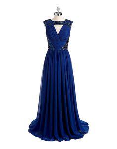 Embellished Sleeveless Gown | Julian Joyce
