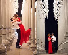 Los Angeles Elopement Photographer - LACMA Lights - Engagement Session #LACMA #engagement