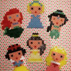 Disney Princess hama beads by mamanroulotte