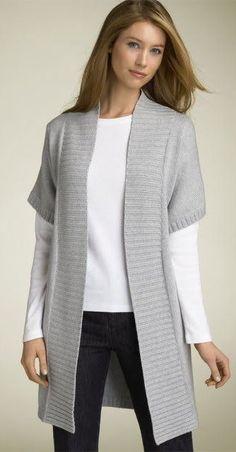 Knitted Women's Vest, Cardigan, Sweater #knit #knitting #crochet #Knitted #Women #Vest #Cardigan #Sweater