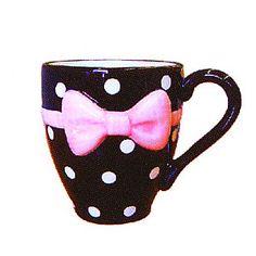 Polka Dot Bow Mug