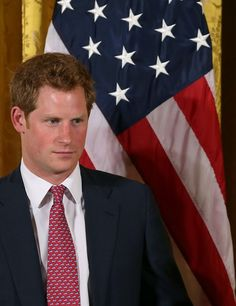 Prince Harry stood next to an American flag while meeting with Michelle Obama in Washington DC on Thursday. Prince Harry Of Wales, Prince William And Harry, Prince Harry And Megan, Prince Henry, Royal Prince, Prince And Princess, Princess Kate, Harry And Meghan, Harry Windsor