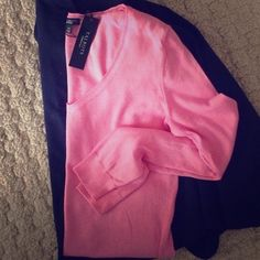 Talbots sweater brand new soft pink I have a brand new with tags talbots sweater. It's pink and extremely soft! Talbots Sweaters Cardigans