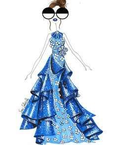 """Sew Sketchy: """"Harry Winston once said: people will stare, so make it worth their while."""""""