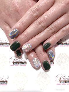 Chrome Nails Holographic Dip Nailart Nail Designs Powder Sequins