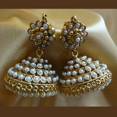 Modest Gold And White Gold Plated #Earring