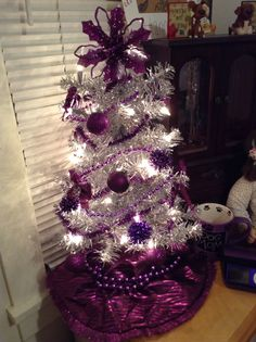 Silver and purple tree.