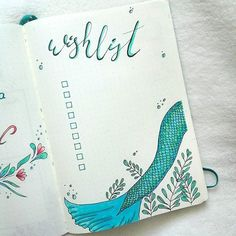 My first #wishlist in my #bujo Cant wait to fill it ! whats on your wishlist? Let me know Have an awesome day PS. i really like how tail of this #mermaid turned out! Love those colors oh why am I not a real marmaid? #bulletjournaljunkies #bulletjournaladdict #bulletjournal #bulletjournaling #bulletjournallove #bulletjournalcommunity #mybulletjournal #mybujo #leuchtturm #leuchtturm1917 #handlettering #handwriting #doodles #doodling #drawing #planningaddict #plannerlove ...