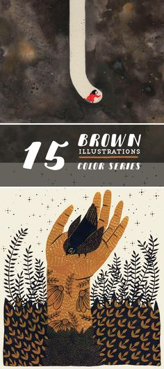 Brown illustrations // modern illustration