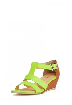 In step. Nanette Lepore Absolute Wonder Wedge in Lemon | Made in USA