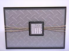 Boyfriend birthday card handmade embossed by Hannmadewithlove