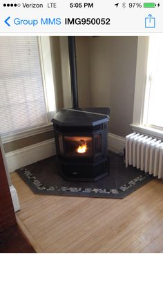 Hearth and pellet stove- what a difference!
