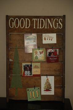 Luv this Christmas Card Holder!!