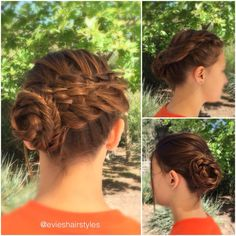 Cool woven updo on Natalie A.❤️