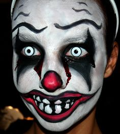 Scary clown makeup