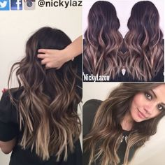 Subtle Balayage melting of colors Dark to light - Kaushal Beauty