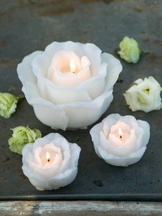 White Rose Candles