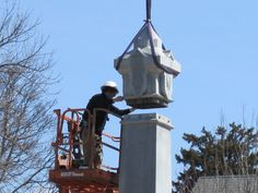 The Defenders Monument in New Ulm has been reinstalled after being down for conservation and repairs since last fall. Work to the zinc monument included cleaning, zinc crack repair, and installing an armature structure inside the monument for support. Check out how fabulous the monument looks next time you're in New Ulm!