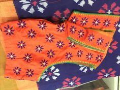 Latest Silk Saree Blouse Designs for Wedding - ArtsyCraftsyDad Saree Blouse Neck Designs, Fancy Blouse Designs, Embroidery Works, Kurti Embroidery, Embroidery Patterns, Hand Embroidery, Latest Silk Sarees, Kutch Work Designs, Blouse Models