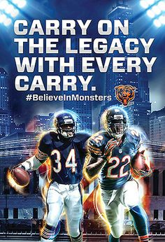 Carrying this legacy on would be his Forte Bears Football, Nfl Chicago Bears, Football Team, Chicago Football, Nfl Championships, Walter Payton, Big Bear, National Football League, Sports