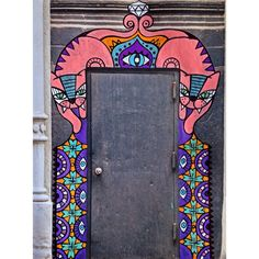 Painted door by alinet, tigers guardians, morroco style @alinet.oficial