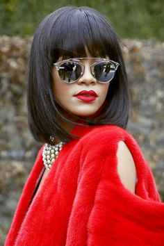 492eabc145f003 Rihanna in Dior So Real Sunglasses by Eyedolatry Rihanna Lipstick, Rihanna  Red Hair, Rihanna