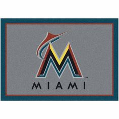 "Miami Marlins 3'10"" x 5'4"" Spirit Rug - $119.99"