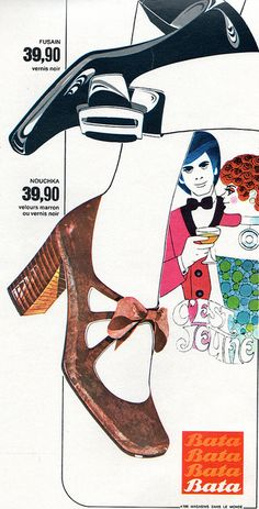 1970's ad for Bata shoes, France #batashoes #bata120years #advertising