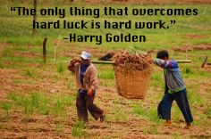 """The only thing that overcomes hard luck is hard work."" -Harry Golden #quoteoftheday"