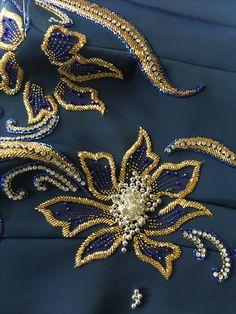 Zardozi - Her Crochet Zardosi Embroidery, Hand Embroidery Dress, Kurti Embroidery Design, Tambour Embroidery, Hand Embroidery Videos, Bead Embroidery Patterns, Couture Embroidery, Bead Embroidery Jewelry, Embroidery Fashion