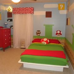 Mario bedroom. THIS is what my boys really want!!