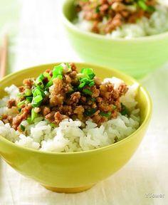 香蔥肉燥飯 食譜 - YTOWER