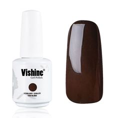 Vishine Gelpolish Lacquer Shiny Color Soak Off UV LED Gel Nail Polish Professional Manicure Dark Brown(1540) *** This is an Amazon Affiliate link. Check out this great product.