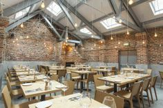 With its large airy space, Yorkshire-inspired drinks and award-winning dishes by Jamie Clinton, this haunt offers up truly local tastes in a secluded and beautiful spot. Cool Bars, Summer Drinks, Repurposed, Yard, Patio, Leeds, Yorkshire, Kitchen, Table