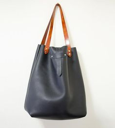 Large Black Leather Tote Bag by Margaret Vera on Scoutmob Shoppe