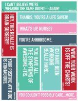 National Nurse Week Print and Posts  and print and posts both have good cutouts