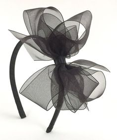 Take a look at this Black Organza Bow Headband today!