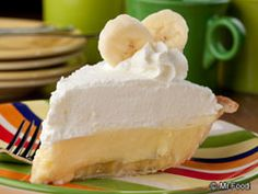 DINER-STYLE BANANA CREAM PIE: ~ From: MrFood.Com ~ Servings: (8); Chilling Time: 4 hrs; Cooking Time: 20 min. ~ Our Diner-Style Banana Cream Pie will surely put a smile on your face! With just a few easy shortcuts, this one can be on your table ready to be served up. And yes, they'll go bananas over it! Read more at http://www.mrfood.com/Pie/Diner-Style-Banana-Cream-Pie/ct/1#P3s8ZBB2CQf860zF.99