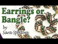 Beading tutorial - Twisted russian spiral stitch for bangle bracelet or DIY earrings - DIY jewelry - YouTube
