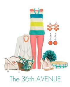 I love this color-block outfit! Super cute