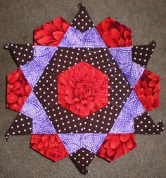 English+paper+pieced+patchwork+star