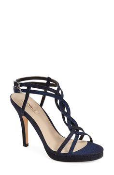 Free shipping and returns on Menbur 'Gerbera' Sandal (Women) at Nordstrom.com. Hints of metallic thread sparkle along the woven straps of a sultry sandal lifted by a wrapped high heel and subtle platform.