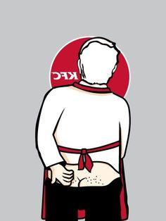Behind KFC