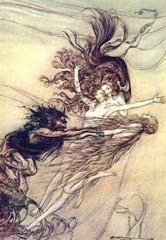 Arthur Rackham -The Ring of Nibelung