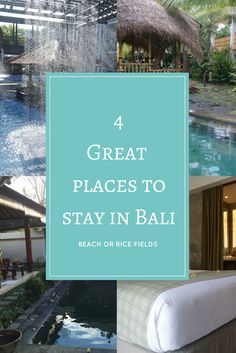 A list of great places to stay in Bali.