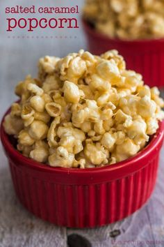 Salted Caramel Popcorn at http://therecipecritic.com  Delicious homemade popcorn with a little bit of salty added to the sweet!!  This is a fantastic recipe you will make again and again!