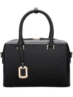 Black Metallic Embellished Tote Bag 25.75