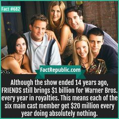 Fact Cards - Hundreds of Little known, interesting, unbelievable facts with sources in easy to share image format that can be seen at a fast glance. Friends Episodes, Friends Moments, Friends Series, Friends Tv Show, Wtf Fun Facts, Funny Facts, Random Facts, Crazy Facts, Random Things